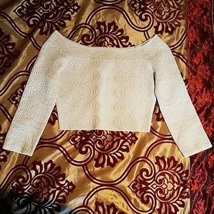 BCBG Maxazria cream sweater S